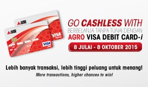 Go Cashless with AGRO VISA DEBIT CARD-i
