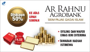 Ar Rahnu Agrobank- 50% discount on safekeeping fee