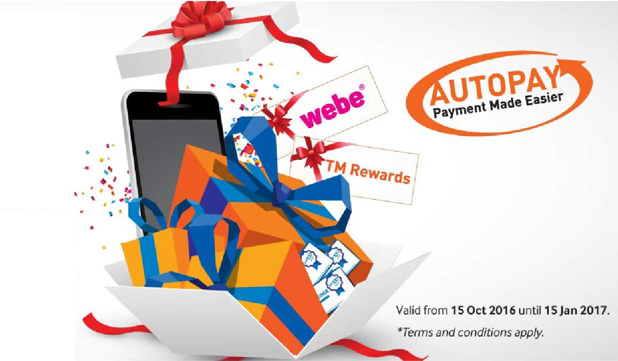 Sign Up for TM Autopay with Visa Card and stand a chance to win prizes worth up to RM110,000!