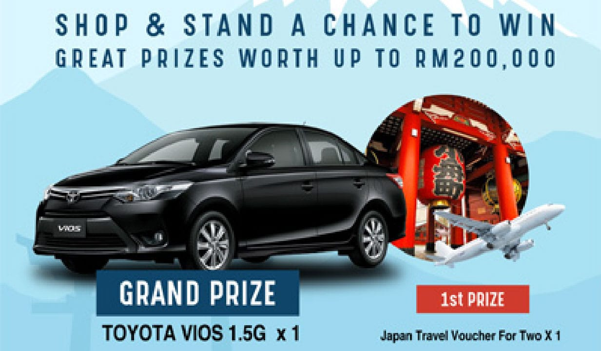 Win prizes worth up to RM200,000 with Visa Card or Visa payWave!