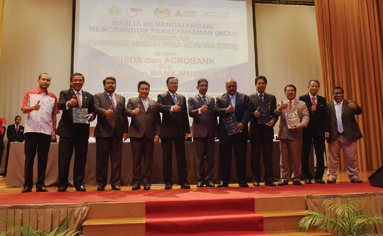 Gallery - Agrobank And Bank Muamalat Signing A Memorandum Of Understanding With Risda On Rumah Bina Negara Project