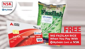 Free Fazilah Rice When You Pay With MyDebit Card