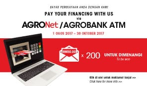 Pay your financing with us via online/ATM