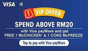 Kempen Visa payWave di McDonalds