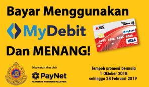 Bayar Menggunakan MyDebit  dan MENANG!