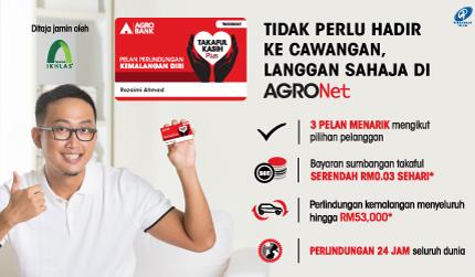 Tidak perlu hadir ke cawangan, langgani Takaful Kasih Plus di AGRONet