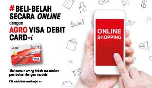 #Beli Belah Secara Online Dengan Agro Visa Debit Card-i