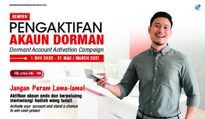Kempen Aktifkan Akaun Dorman (1 November 2020 – 31 Mac 2021)